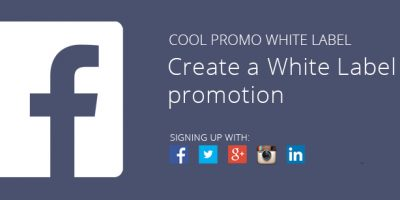 Create a White Label promotion