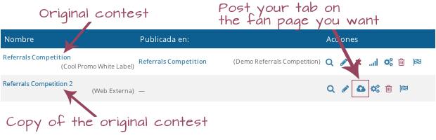 Copy of the original contest