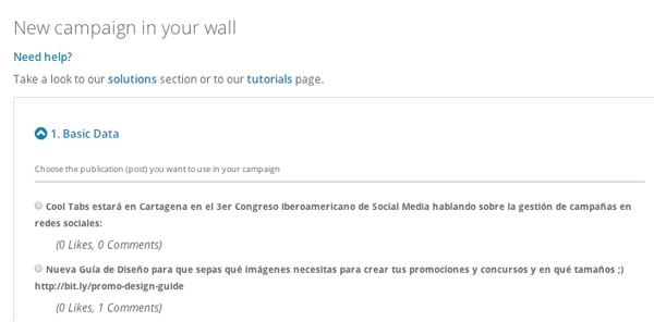 Select post to install WallPromo