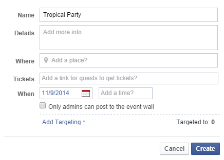 Events or offers on your page