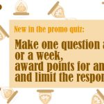 What's new in the promo quiz?