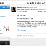 Twitter Cards: Mobile version and Desktop version