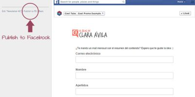 If we consider everything´s right, we click on 'Publicar en FB'.
