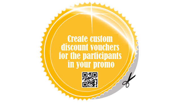 Create custom discount vouchers for the participants in your promo