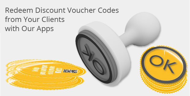 Our Applications Redeem Discount Voucher Codes from Your Clients