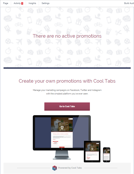 Generic message: No active promotions