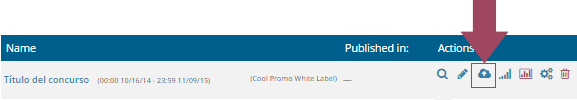 1.	Access the Cool Tabs dashboard and click on the 'Publish' icon of the promo or content that you want to launch