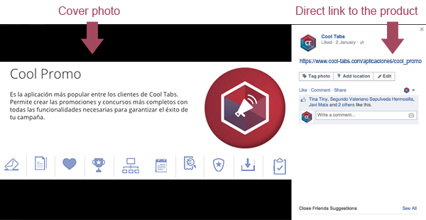 Promoting your products or campaigns using the Facebook cover photo