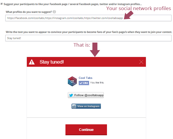 Recommending your social network profiles to participants