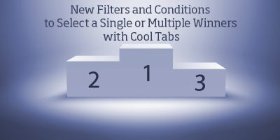New Filters and Conditions to Select a Single or Multiple Winners with Cool Tabs