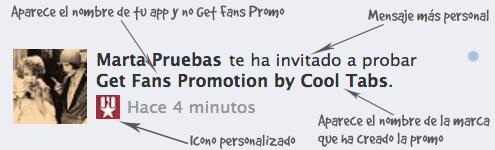 Invitación a participar en una promo con Get Fans Promo White Label