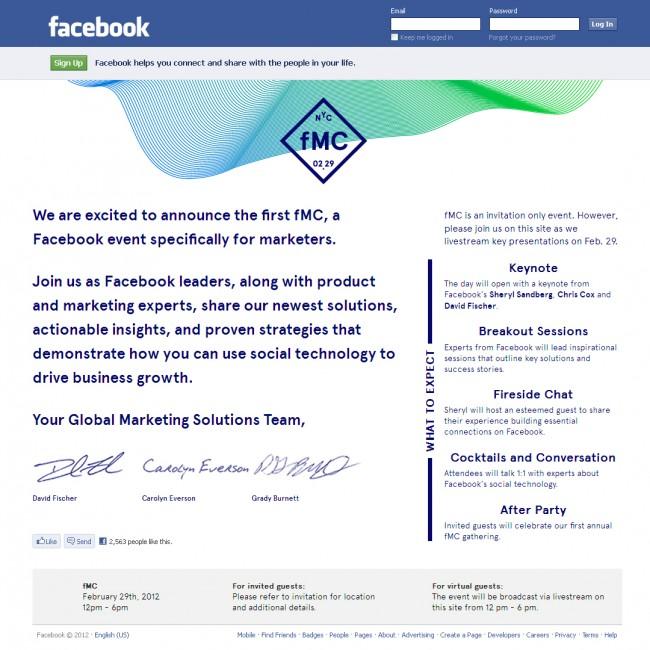 evento facebook marketers