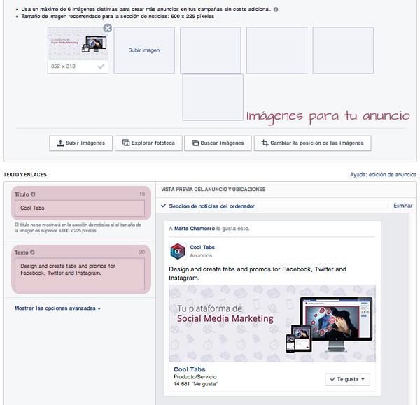 Elegir copys y creatividades para tu anuncio en Facebook Ads