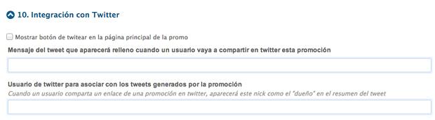 Configuración de la app: Integración con Twitter