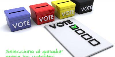 Selecciona ganador entre tus votantes