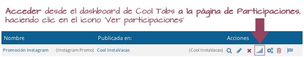 Acceder a la página de participaciones de Cool Tabs