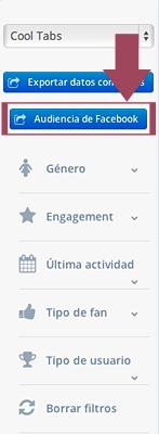 Exporta tu audiencia de Facebook