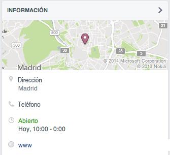 Localización e información del restaurante