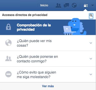 Comprobación de la privacidad en Facebook