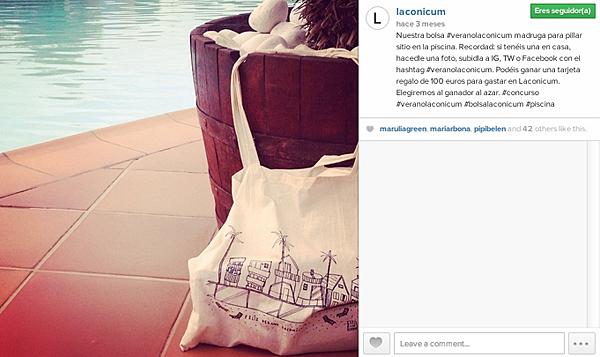 Concurso #veranolaconicum en Facebook, Twitter e Instagram