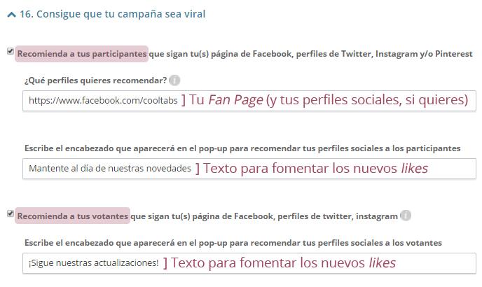 Recomendar perfiles sociales