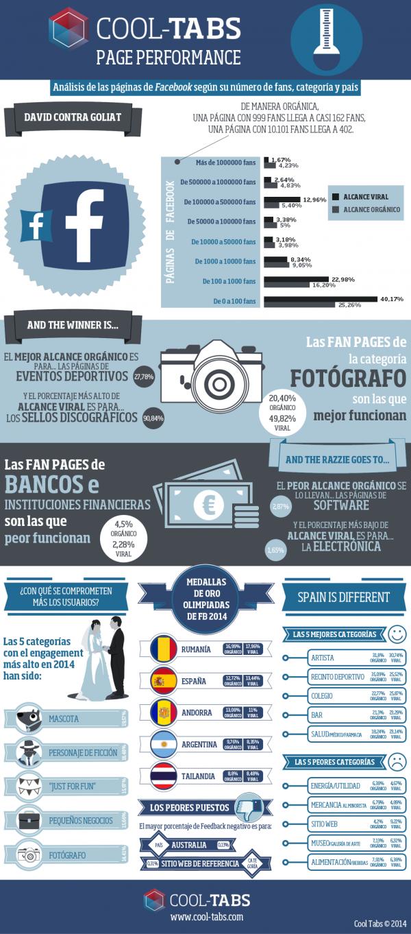 Infografía: Análisis de las páginas de Facebook según su número de fans, categoría y país