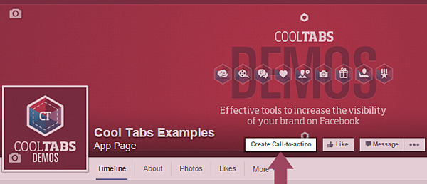 Crear botón de call-to-action en Facebook