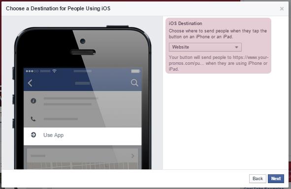 Destino para usuarios de IOS: Website