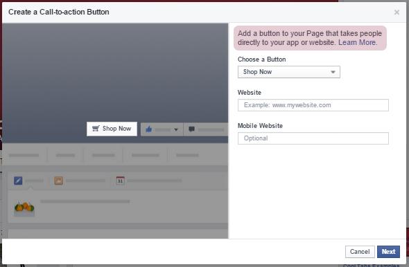 Crear call-to-action personalizado en tu página de Facebook