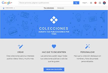 Nueva sección de Google+: Colecciones