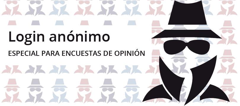 Login anónimo, especial para encuestas de opinión