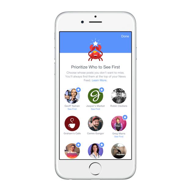 Preferencias: Elegir qué fan pages y amigos prefieres ver primero en tus noticias