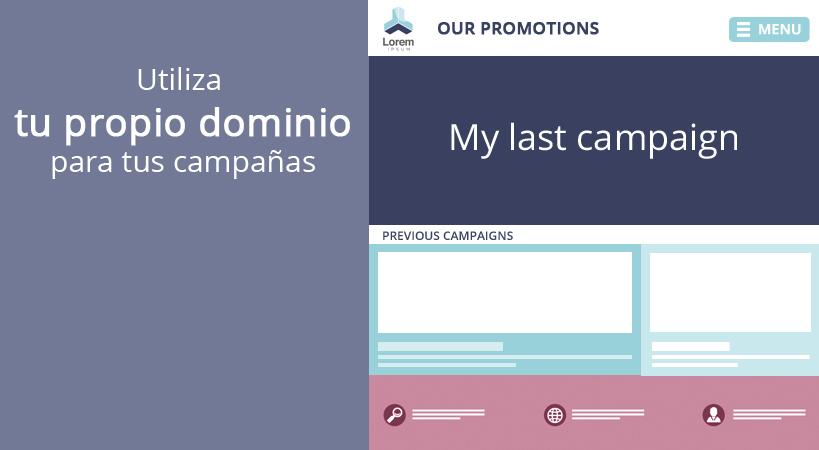 Utiliza tu propio dominio para tus campañas