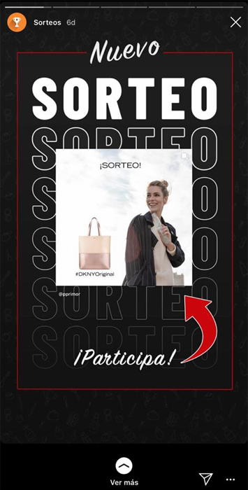 sorteo en Stories Instagram