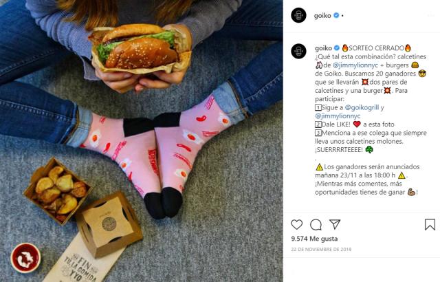 sorteo en Instagram